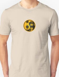 Yellow and Black Acoustic Electric Guitars Yin Yang Unisex T-Shirt