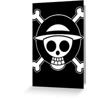 【3600+ views】ONE PIECE: Jolly Roger of Straw Hat II Greeting Card