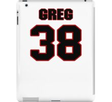 NFL Player Greg Ducre thirtyeight 38 iPad Case/Skin