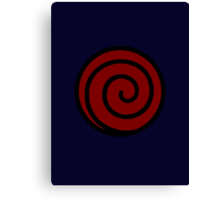 【21000+ views】NARUTO: Clan Symbol of Whirlpool (Uzumaki) Canvas Print