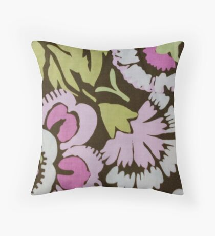 Floral Flower Garden Throw Pillow