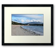 Looking Along The Bay To Balnakiel House Framed Print