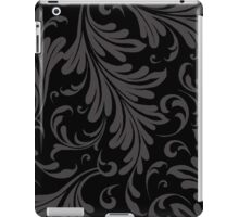 Fancy Acanthus Pattern Black on Black iPad Case/Skin