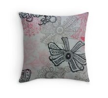 Pretty Bow Style Throw Pillow
