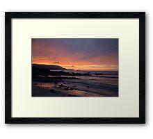 Sunset at Balnakeil Bay Framed Print
