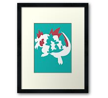 【13800+ views】Pokemon Totodile>Croconaw>Feraligatr Framed Print
