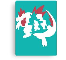 【13800+ views】Pokemon Totodile>Croconaw>Feraligatr Canvas Print