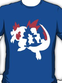 【13800+ views】Pokemon Totodile>Croconaw>Feraligatr T-Shirt