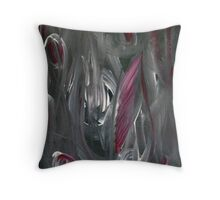 Abstract Rhubarb Throw Pillow