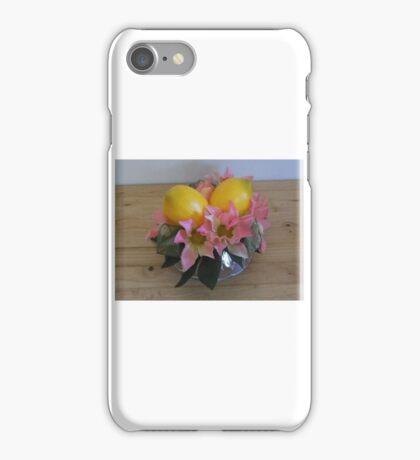 """martha's lemon vineyard wedding cake topper"" - especially for simple white cake! iPhone Case/Skin"