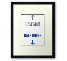 Half man, half horse Framed Print