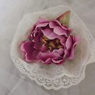 """""""sonia"""" silk flower wedding headpiece!  beautiful with a veil or by itself.  candace bridal collectables by candace lauer"""