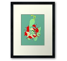 【11800+ views】Pokemon  Chicorita>Bayleef>Meganium Framed Print