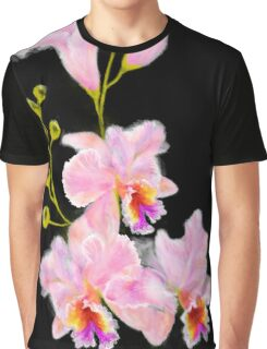 Pink Orchids Graphic T-Shirt