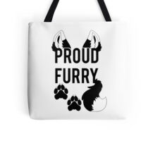 PROUD FURRY  -clear tips- Tote Bag