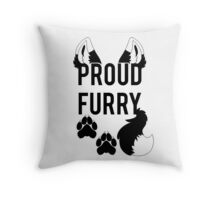 PROUD FURRY  -clear tips- Throw Pillow