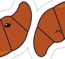 Croissant happy or sad Sticker