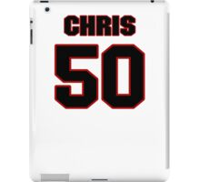 NFL Player Chris Borland fifty 50 iPad Case/Skin