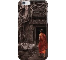 Path to Enlightenment - Ta Prohm Temple Cambodia iPhone Case/Skin