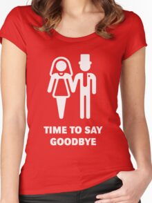 Time To Say Goodbye (Stag Party / Hen Night) / White Women's Fitted Scoop T-Shirt