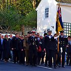 Remembrance Day In Lyme Dorset UK by lynn carter