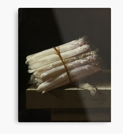 Adriaen Coorte - Still Life With Asparagus, 1697 Metal Print