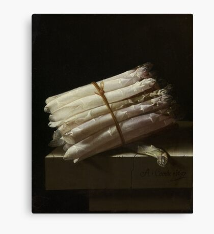 Adriaen Coorte - Still Life With Asparagus, 1697 Canvas Print
