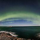 Aurora panorama at Bleik by Frank Olsen