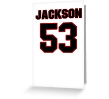 NFL Player Jackson Jeffcoat fiftythree 53 Greeting Card
