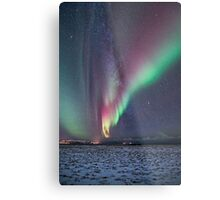 Auroras and the Milky Way Metal Print