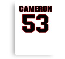NFL Player Cameron Lawrence fiftythree 53 Canvas Print