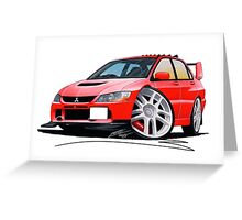 Mitsubishi Evo IX Red Greeting Card