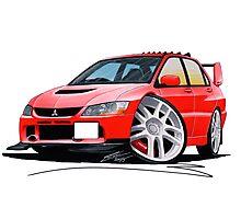 Mitsubishi Evo IX Red Photographic Print