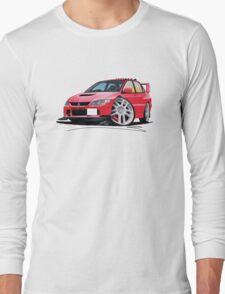 Mitsubishi Evo IX Red Long Sleeve T-Shirt