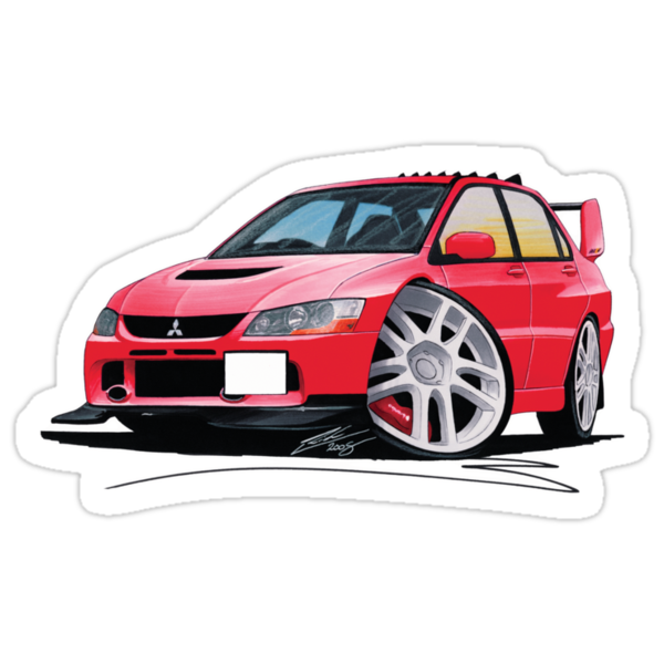 Mitsubishi Evo IX Red by Richard Yeomans