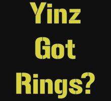 Pittsburgh Steelers Yinz Got RIngs? by VelocityDesigns