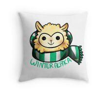 Winter Alpaca Throw Pillow