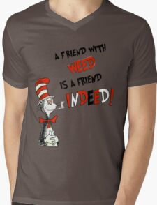 Dr. Seuss the cat in a hat : A friend with weed is a friend indeed Mens V-Neck T-Shirt