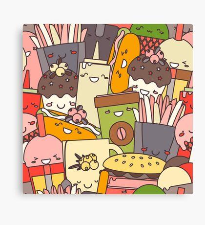 Fast  Food illustration Canvas Print