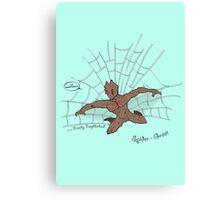 The freindly neighberhood Spider-Groot Canvas Print