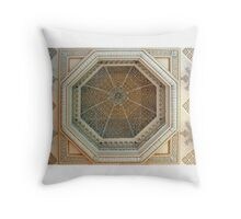 Ceiling of the library in Blenheim Palace Throw Pillow