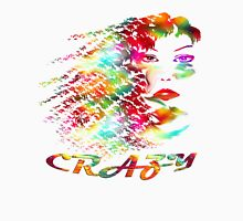 Crazy-  Art + Products Design  Womens Fitted T-Shirt