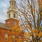 USA. Connecticut. New Haven. United Church. Fall. by vadim19