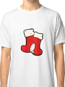 cartoon christmas socks Classic T-Shirt
