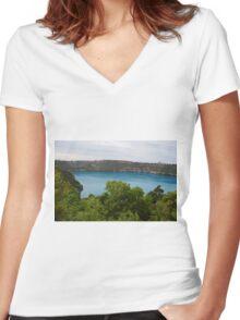 Blue Lake Women's Fitted V-Neck T-Shirt