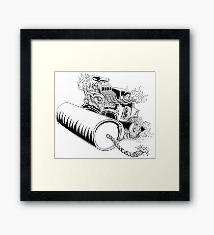 Rolling dynamite  Framed Print