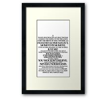 Akhaten Speech (black) Framed Print