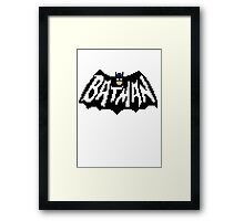 Bat Pixelart Framed Print
