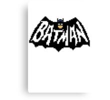 Bat Pixelart Canvas Print