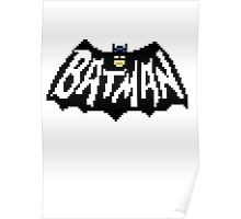 Bat Pixelart Poster